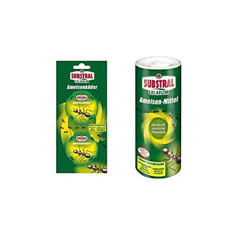 Substral Celaflor Ameisen-Frei-Paket: 2 Ameisenköder-Dosen und 500 g Ameisen-Mittel zum Gießen